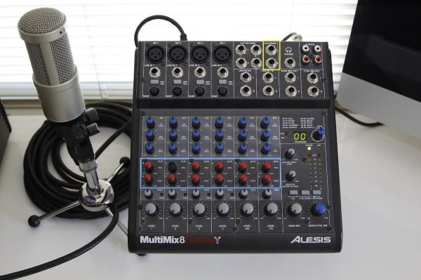 Step 1 Mixer with Aux Send