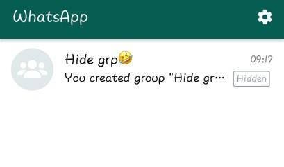 can you hide whatsapp group