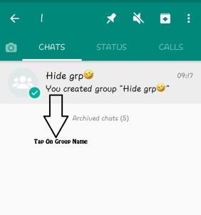 Hide Whatsapp Group