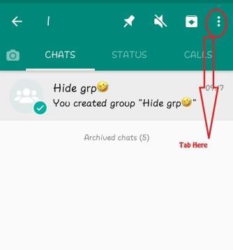 hide grp whatsapp