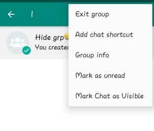 how to hide whatsapp group on android