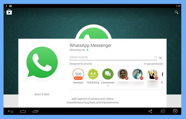 download whatsapp application for csv file importing