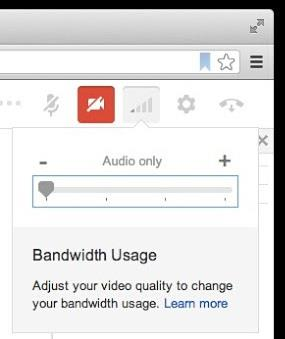 google hangout bandwidth settings