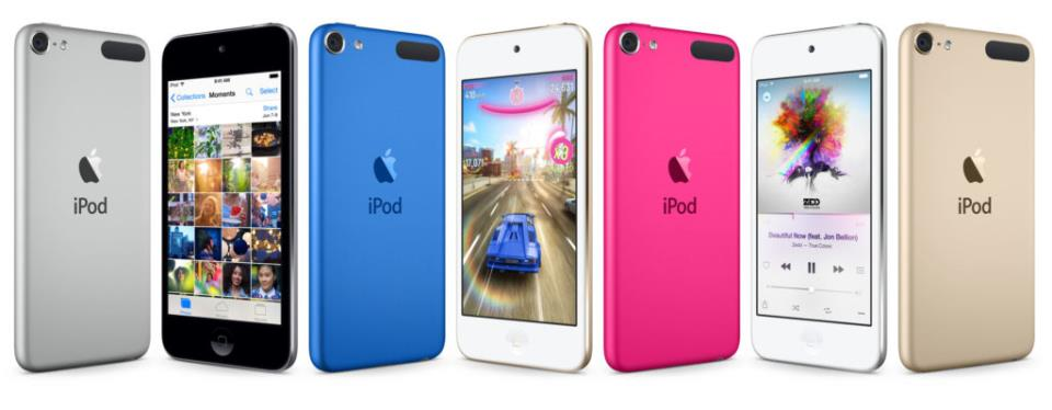 iPod touch 6th-gen colors
