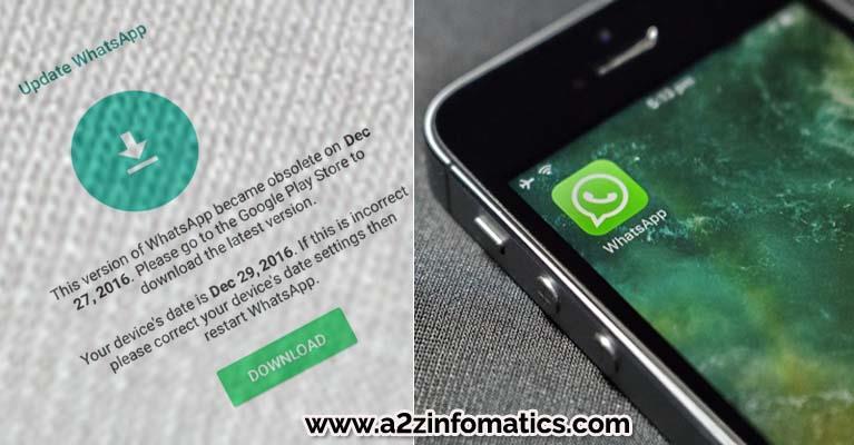 open whatsapp Obsolete version