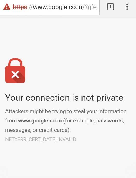 SSL certificate error
